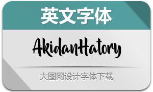 AkidanHatory(英文字体)