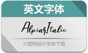 Alpiar-Italic(英文字体)