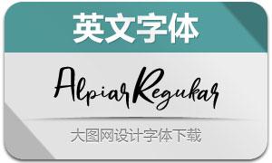 Alpiar-Regular(英文字体)