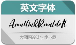 Amallia&Ronaldo-Italic(英文字体)