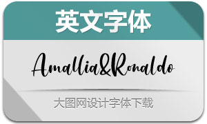 Amallia&Ronaldo(英文字体)