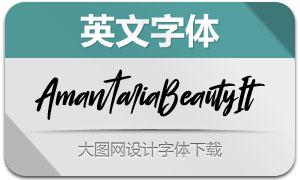 AmantariaBeauty-Italic(英文字体)