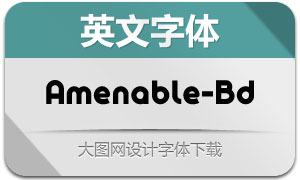 Amenable-Bold(英文字体)