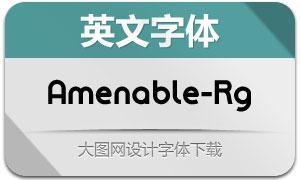 Amenable-Regular(英文字体)