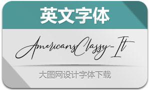 AmericansClassy-Italic(英文字体)
