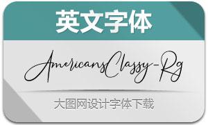 AmericansClassy(英文字体)