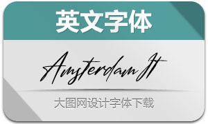 AmsterdamSignature-Italic(英文字体)