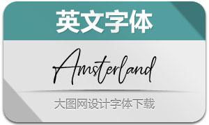 Amsterland(英文字体)