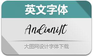 Andiani-Italic(英文字体)