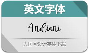 Andiani(英文字体)