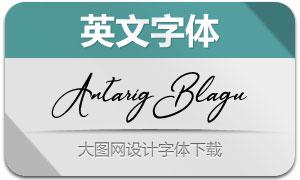 AntarigBlagu(英文字体)