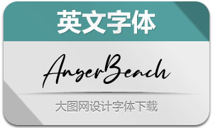 AnyerBeach(英文字体)