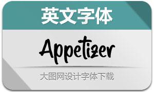 Appetizer(英文字体)