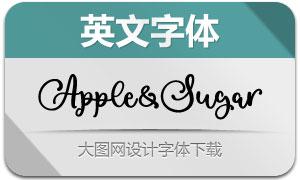 AppleAndSugar(英文字体)