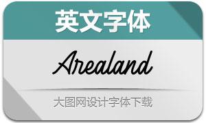 Arealand(英文字体)