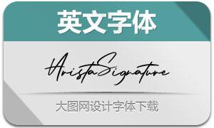 AristaSignature(英文字体)