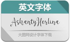 AshantyHerlina(英文字体)