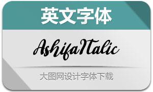 Ashifa-Italic(英文字体)
