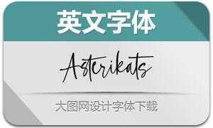 Asterikats(英文字体)