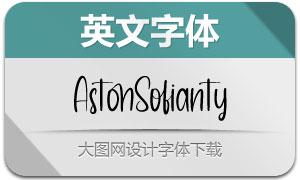 AstonSofianty(英文字体)
