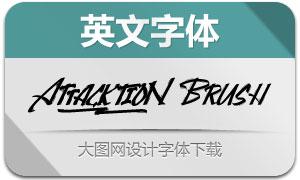 AttacktionBrush(英文字体)