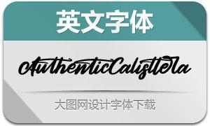 AuthenticCalisttera(英文字体)