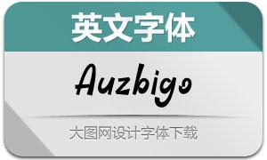 Auzbigo(英文字体)