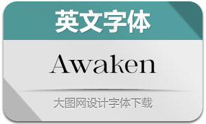 Awaken(英文字体)