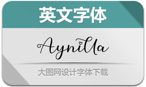 Aynilla(英文字体)