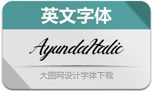Ayunda-Italic(英文字体)