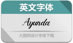 Ayunda(英文字体)