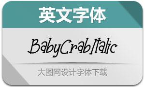 BabyCrab-Italic(英文字体)