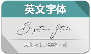 Basstian-Italic(英文字体)