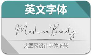 MarlinaBeauty(英文字体)