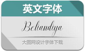 BeliandiyaScript(英文字体)