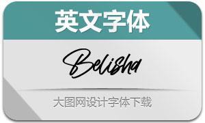 Belisha(英文字体)