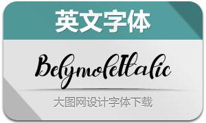 Belymole-Italic(英文字体)
