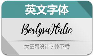 Berlysa-Italic(英文字体)