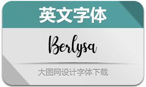 Berlysa(英文字体)