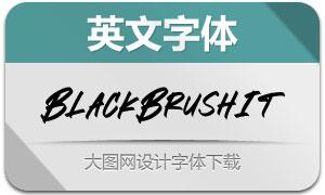 BlackBrush-Italic(英文字体)