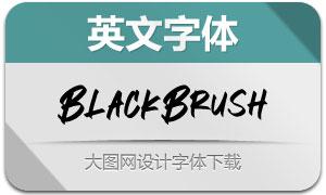 BlackBrush(英文字体)