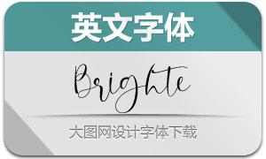 Brighte(英文字体)