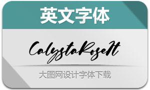 CalystaRose-Italic(英文字体)