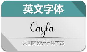 Cayla(英文字体)