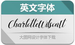 CharlotteWilson-Italic(英文字体)
