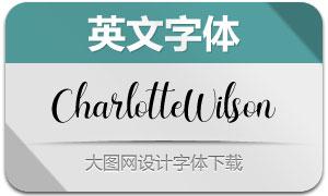 CharlotteWilson(英文字体)