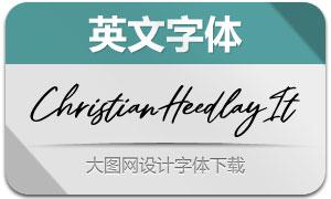 ChristianHeedlay-Italic(英文字体)