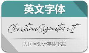 ChristinaSignature-Italic(英文字体)
