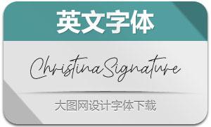 ChristinaSignature(英文字体)