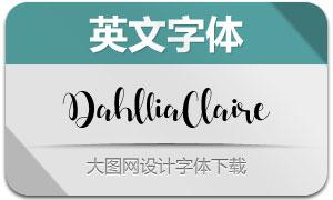 DahlliaClaire(英文字体)